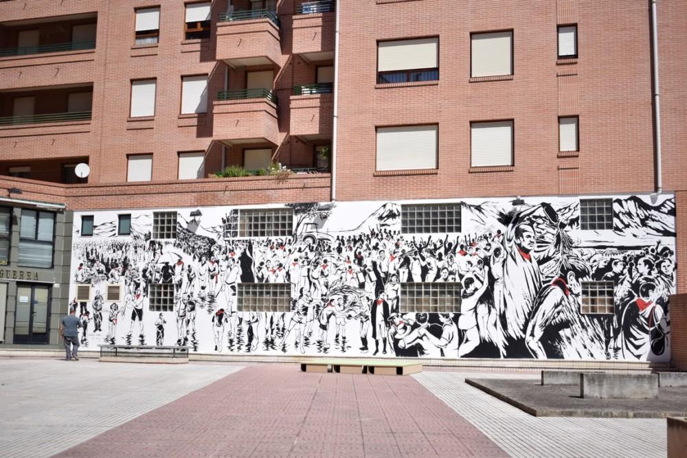 El Mural de la Batalla del Vino, otro emblema para Haro 1