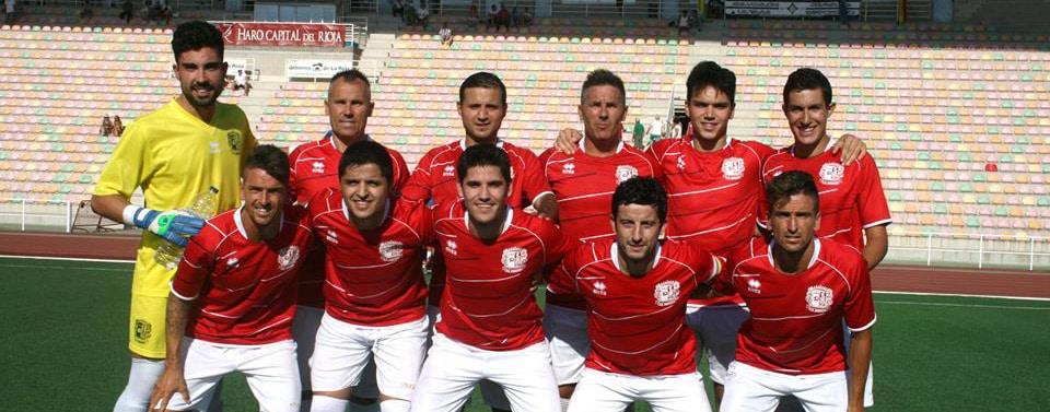 El CD Anguiano posa antes del partido de Copa Federación ante el Haro | Antonio Corral
