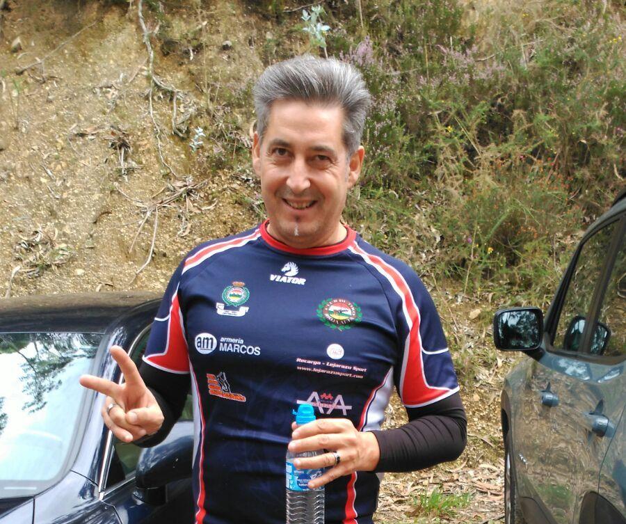 Pedro Ruiz, tras la competición de 'F-Class' disputada en Asturias. | Club de Tiro Rioja Alta