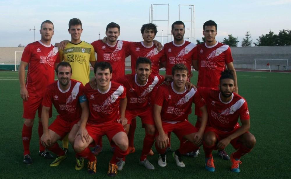 El once inicial del Náxara en su partido de Copa Federación ante el Haro Deportivo | Antonio Corral