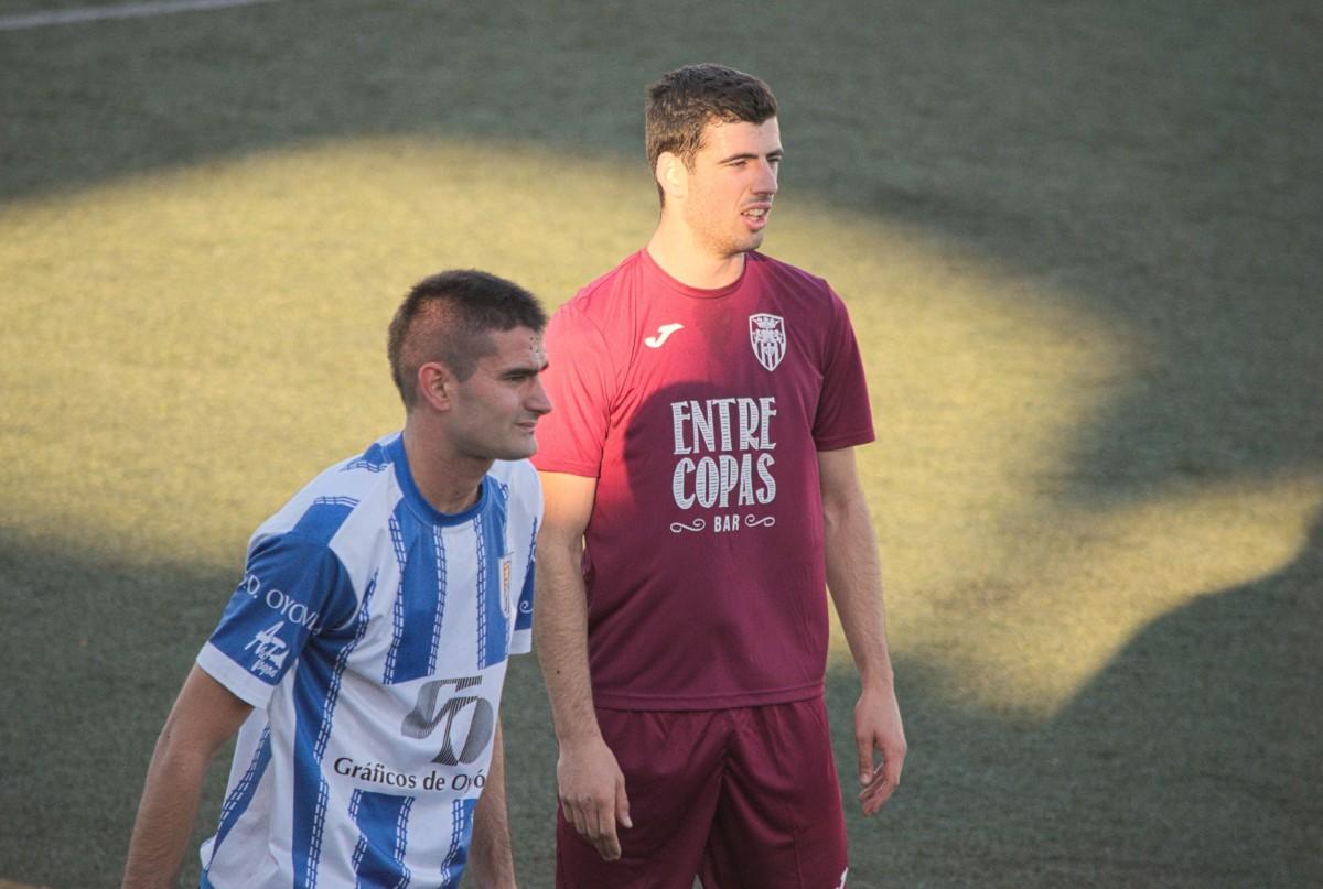 El blanquinegro Dani Gómez fue titular en el partido del domingo frente a la Oyonesa.