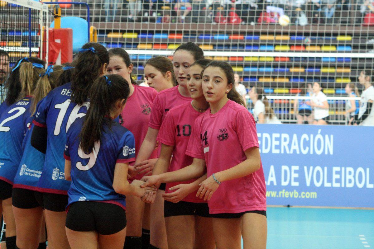 Oro y bronce para la cantera del Haro Rioja Voley en la Copa de España 3