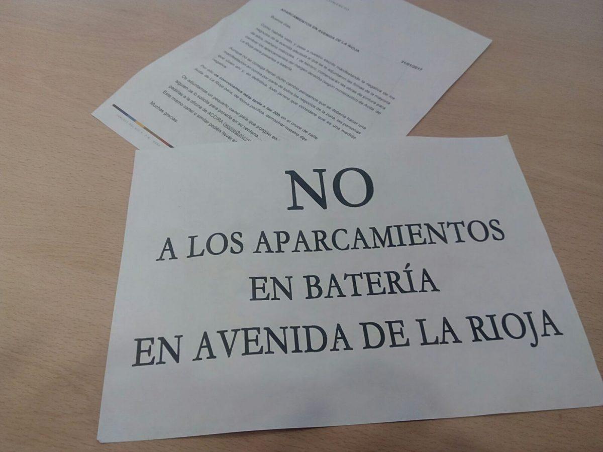 ACCIRA anima a los comerciantes a manifestarse 'pacíficamente' en contra de los cambios de aparcamiento en la avenida de La Rioja 1