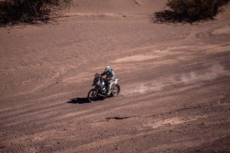 Anguiano, cerca de su sueño en el Dakar 1