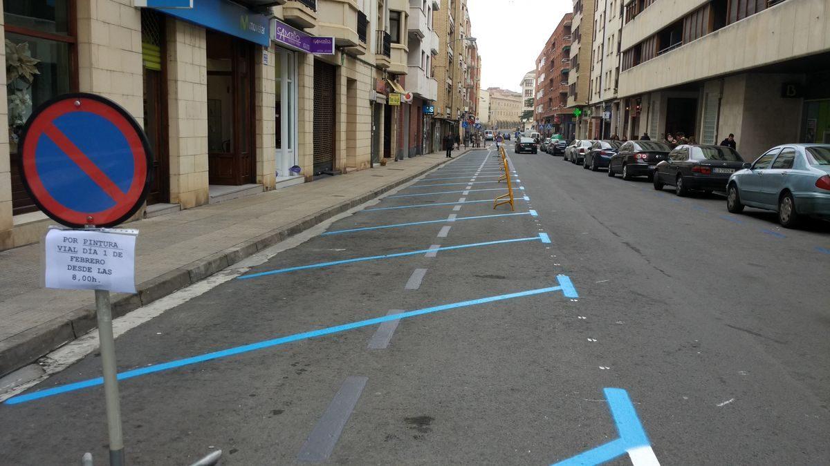 """Solicitan al Ayuntamiento de Haro que los aparcamientos en la avenida de La Rioja vuelvan a """"su estado inicial"""" 2"""