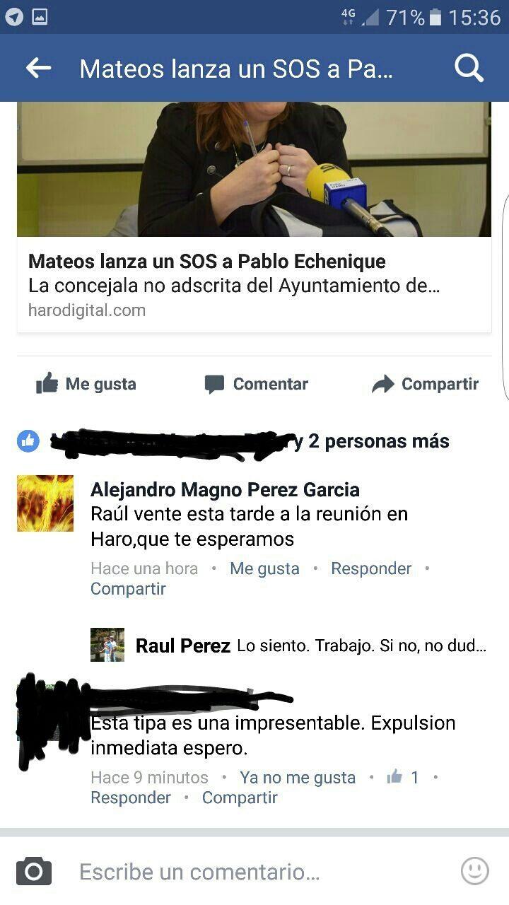 Raúl Pérez denuncia que Mateos arremete contra el Consejo Ciudadano para 'cubrir su propia ambición' 1