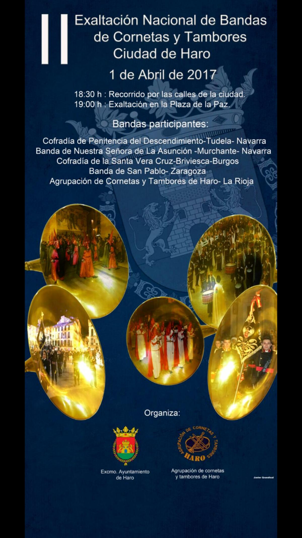 La nueva edición de la exaltación de bandas de Haro, preludio de Semana Santa 1