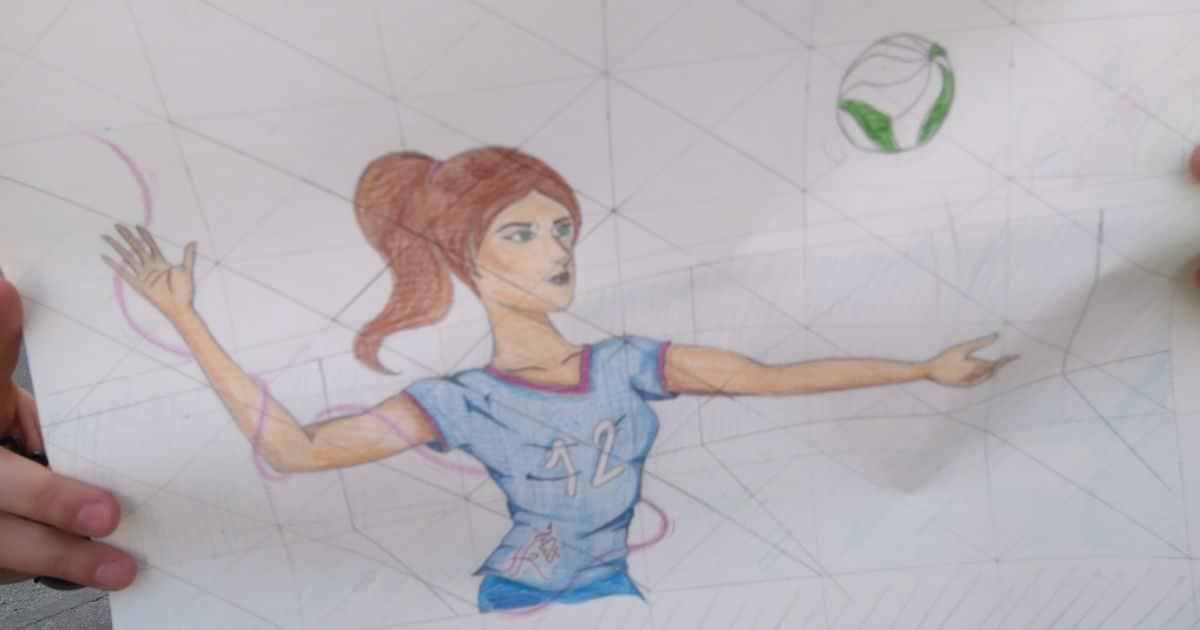 19 alumnos del IES Ciudad de Haro pintarán 14 murales de temática deportiva en el frontón de El Ferial 3