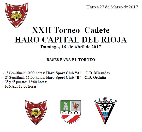El Ferial acoge este fin de semana el Torneo 'Haro, Capital del Rioja' en categorías alevín y cadete 2