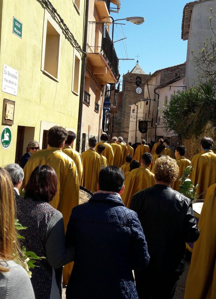 La Banda de Cornetas y Tambores de Haro participa en Sorzano en la procesión del Domingo de Ramos 1