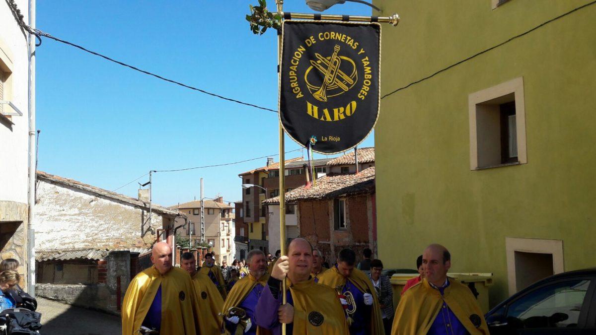 La Banda de Cornetas y Tambores de Haro participa en Sorzano en la procesión del Domingo de Ramos 3