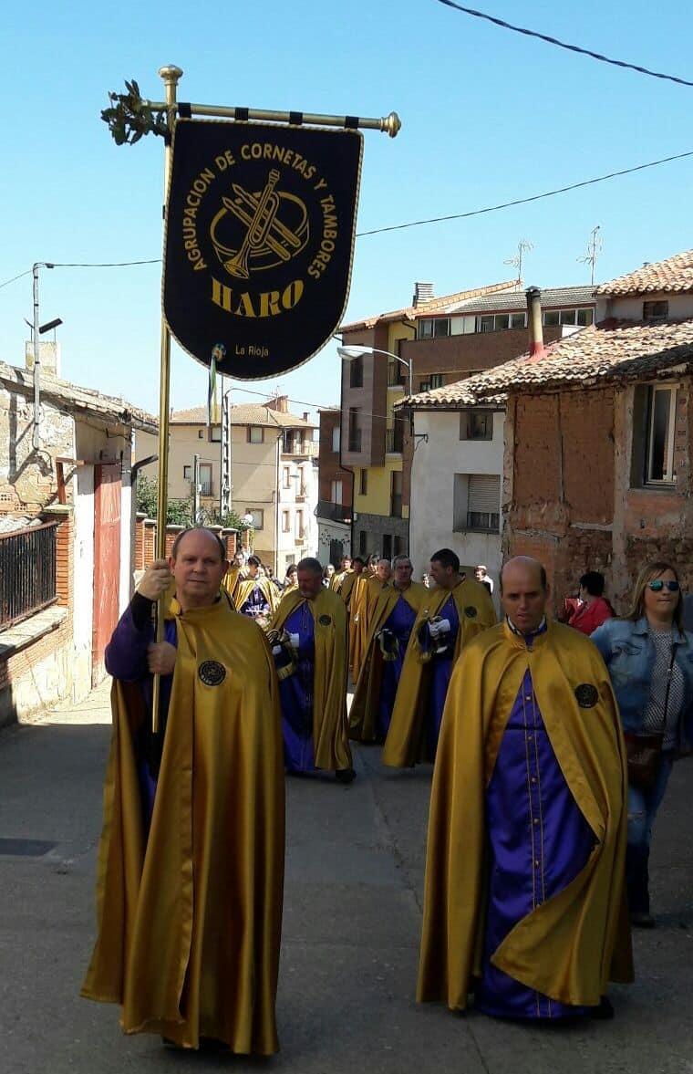 La Banda de Cornetas y Tambores de Haro participa en Sorzano en la procesión del Domingo de Ramos 4