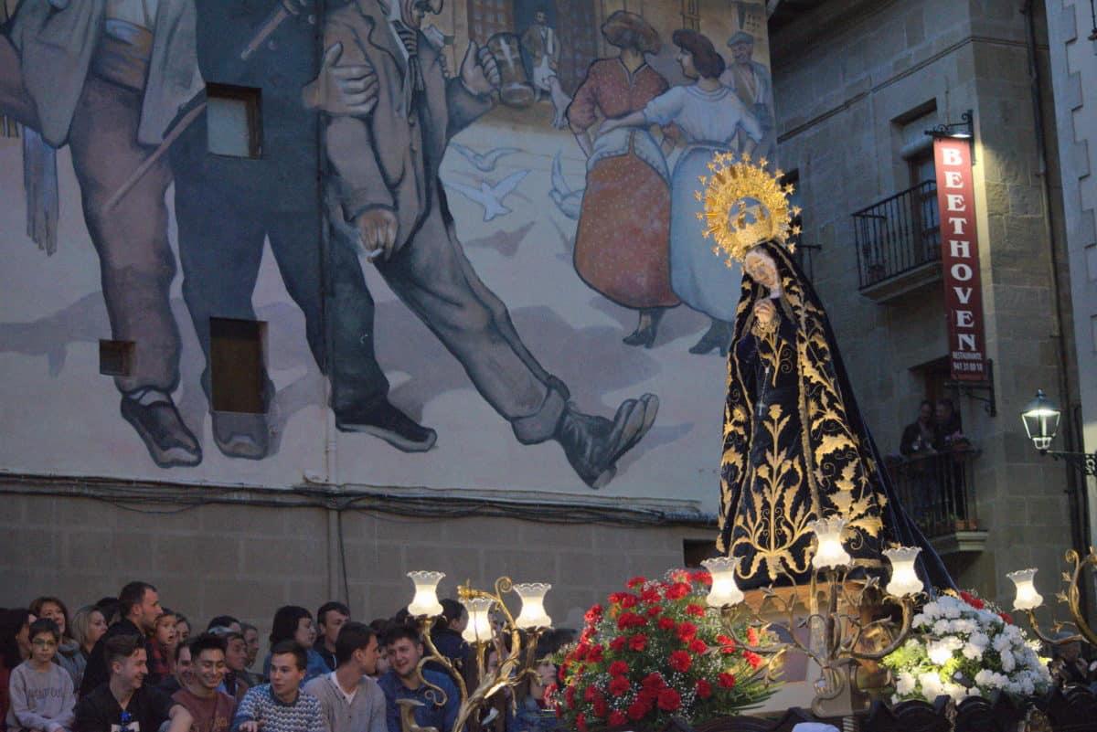 Con El Encuentro se inician los actos centrales de la Semana Santa en Haro 1