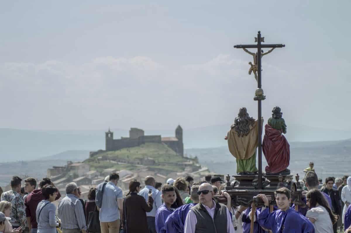 Los 'Picaos' en la procesión del Vía Crucis de San Vicente de la Sonsierra 18