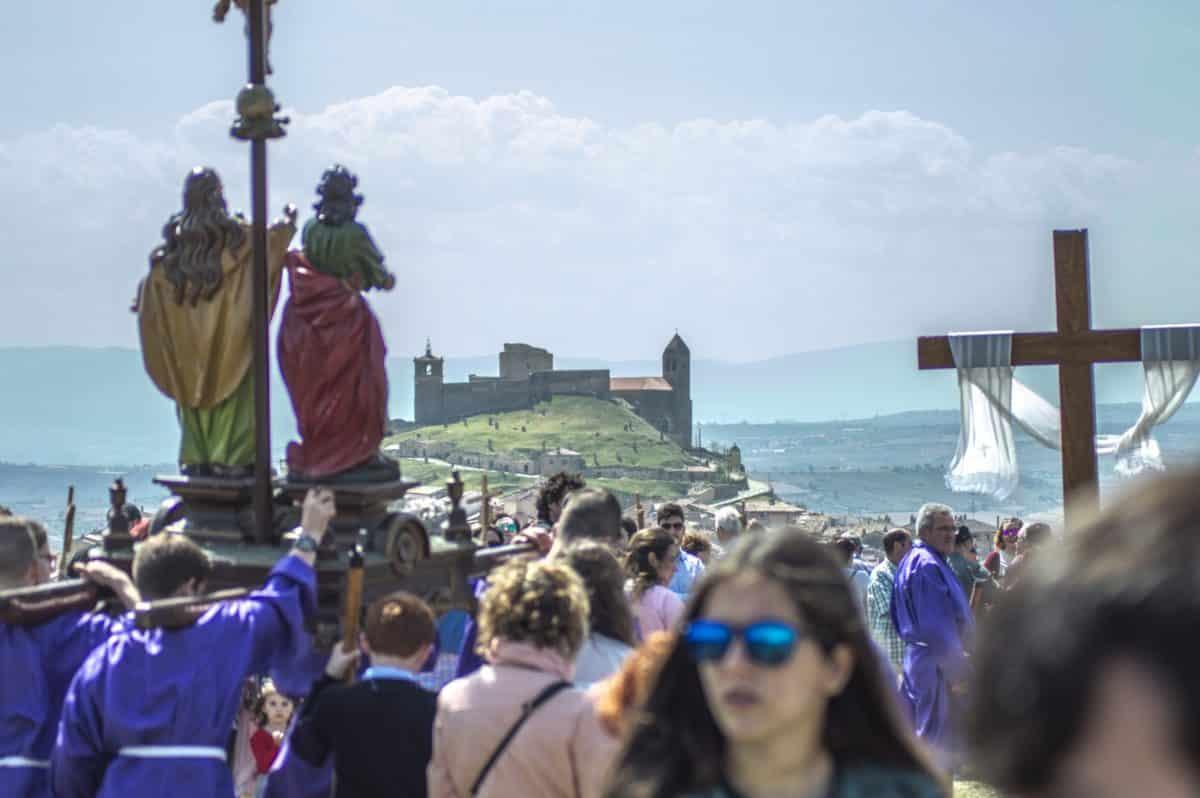 Los 'Picaos' en la procesión del Vía Crucis de San Vicente de la Sonsierra 17