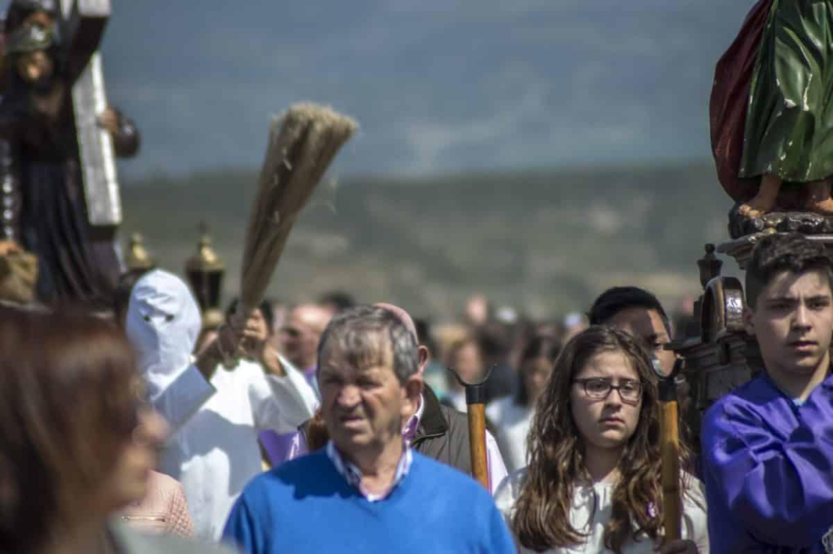 Los 'Picaos' en la procesión del Vía Crucis de San Vicente de la Sonsierra 28