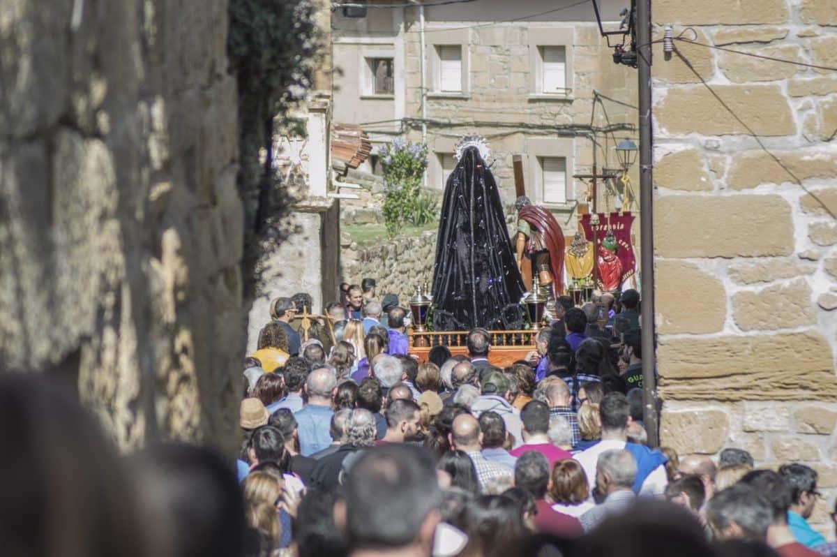 Los 'Picaos' en la procesión del Vía Crucis de San Vicente de la Sonsierra 21