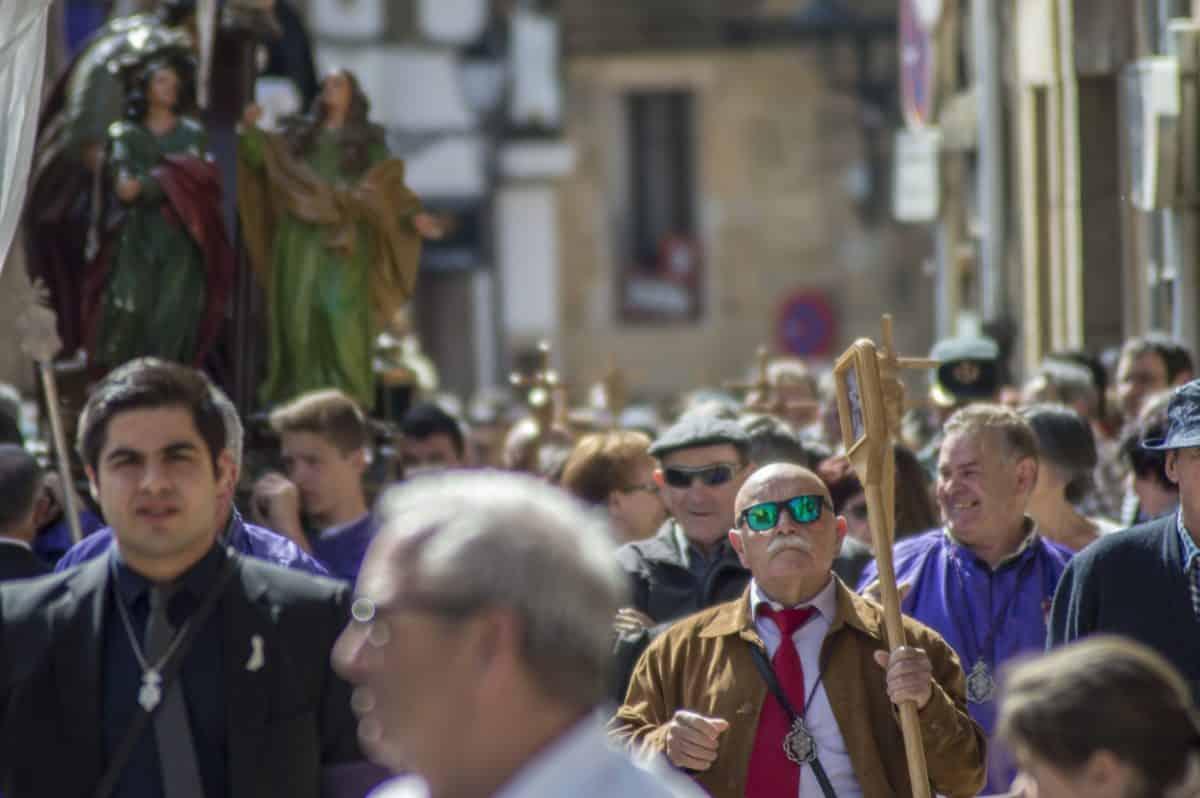 Los 'Picaos' en la procesión del Vía Crucis de San Vicente de la Sonsierra 22