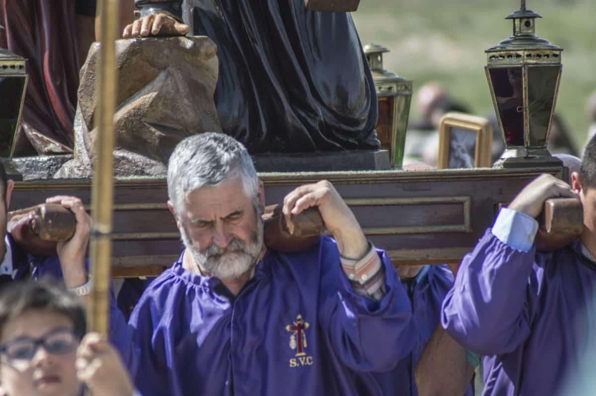 Los 'Picaos' en la procesión del Vía Crucis de San Vicente de la Sonsierra 14