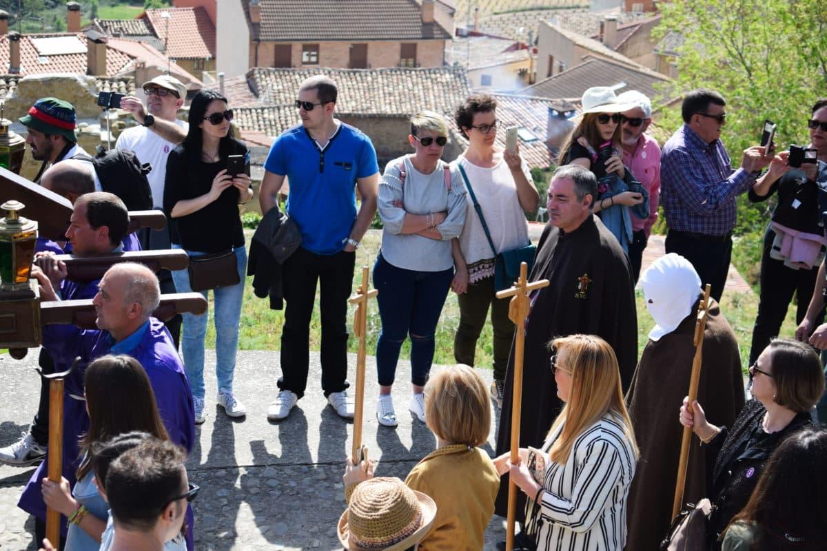 Los 'Picaos' en la procesión del Vía Crucis de San Vicente de la Sonsierra 2
