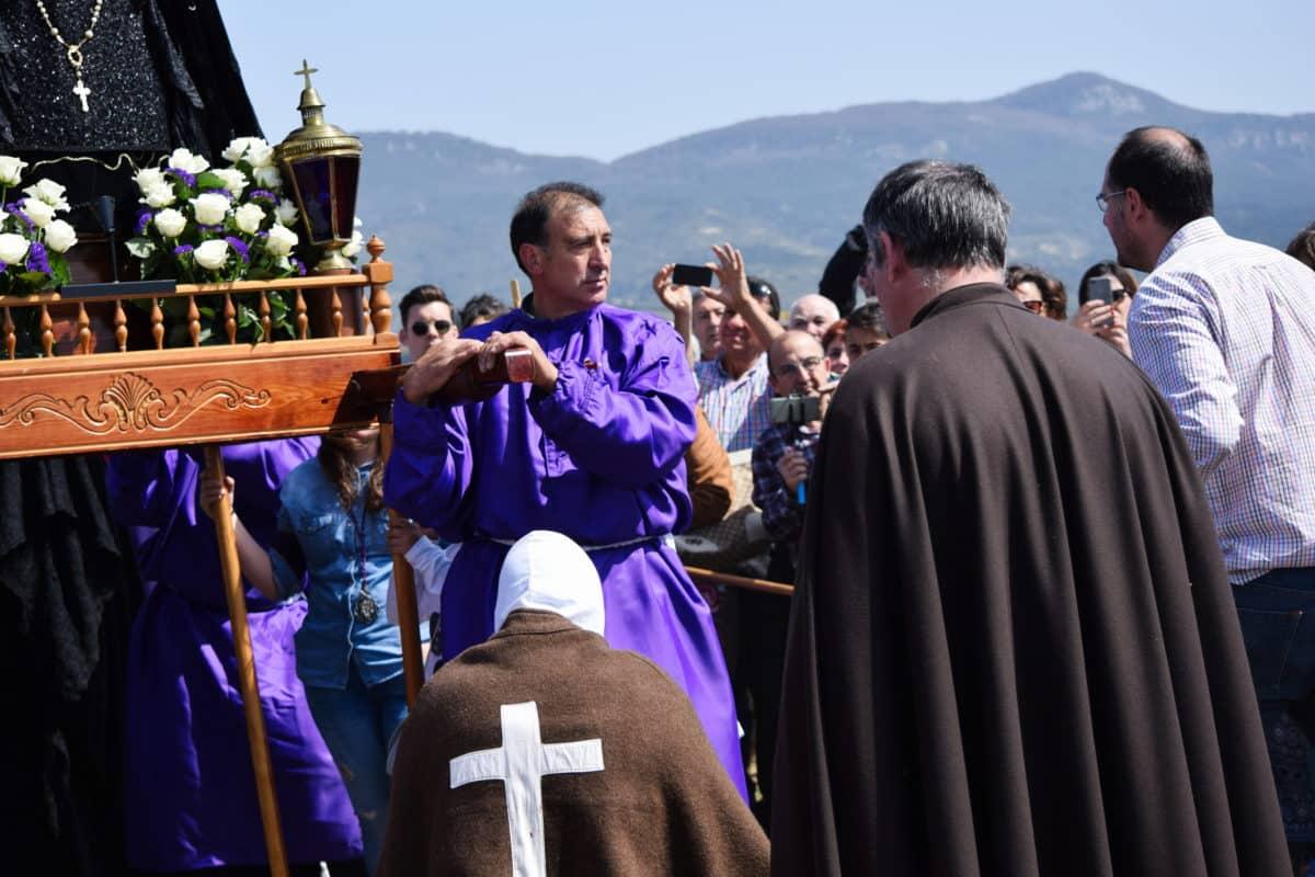 Los 'Picaos' en la procesión del Vía Crucis de San Vicente de la Sonsierra 7