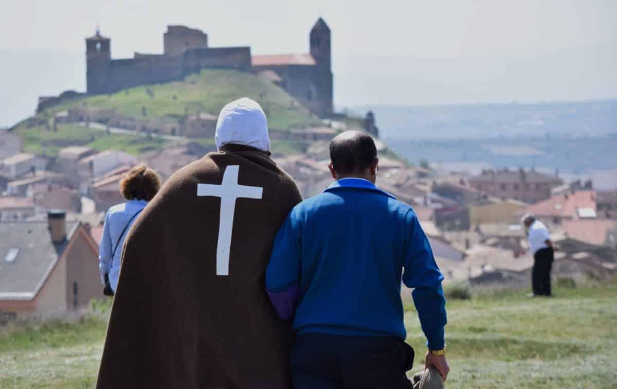 Los 'Picaos' en la procesión del Vía Crucis de San Vicente de la Sonsierra 10