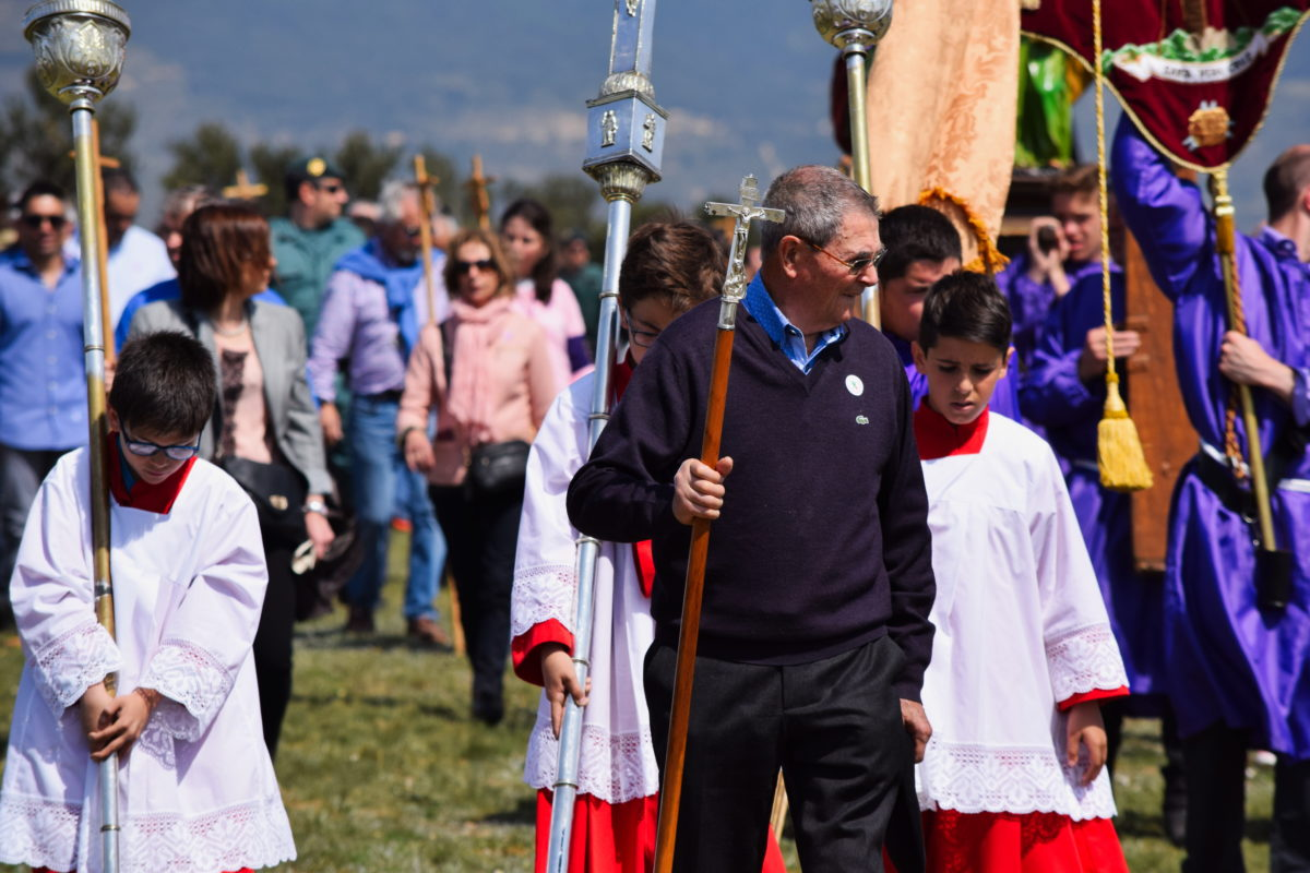 Los 'Picaos' en la procesión del Vía Crucis de San Vicente de la Sonsierra 11