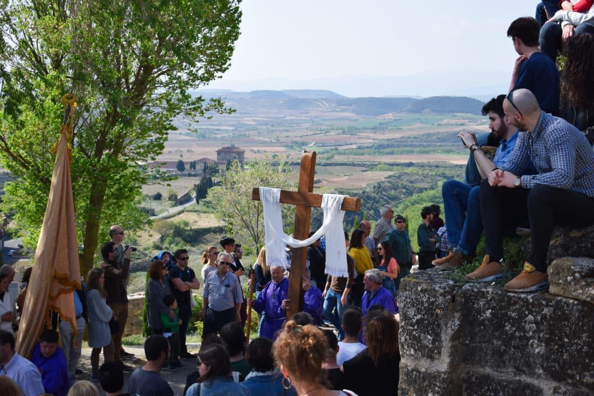Los 'Picaos' en la procesión del Vía Crucis de San Vicente de la Sonsierra 1