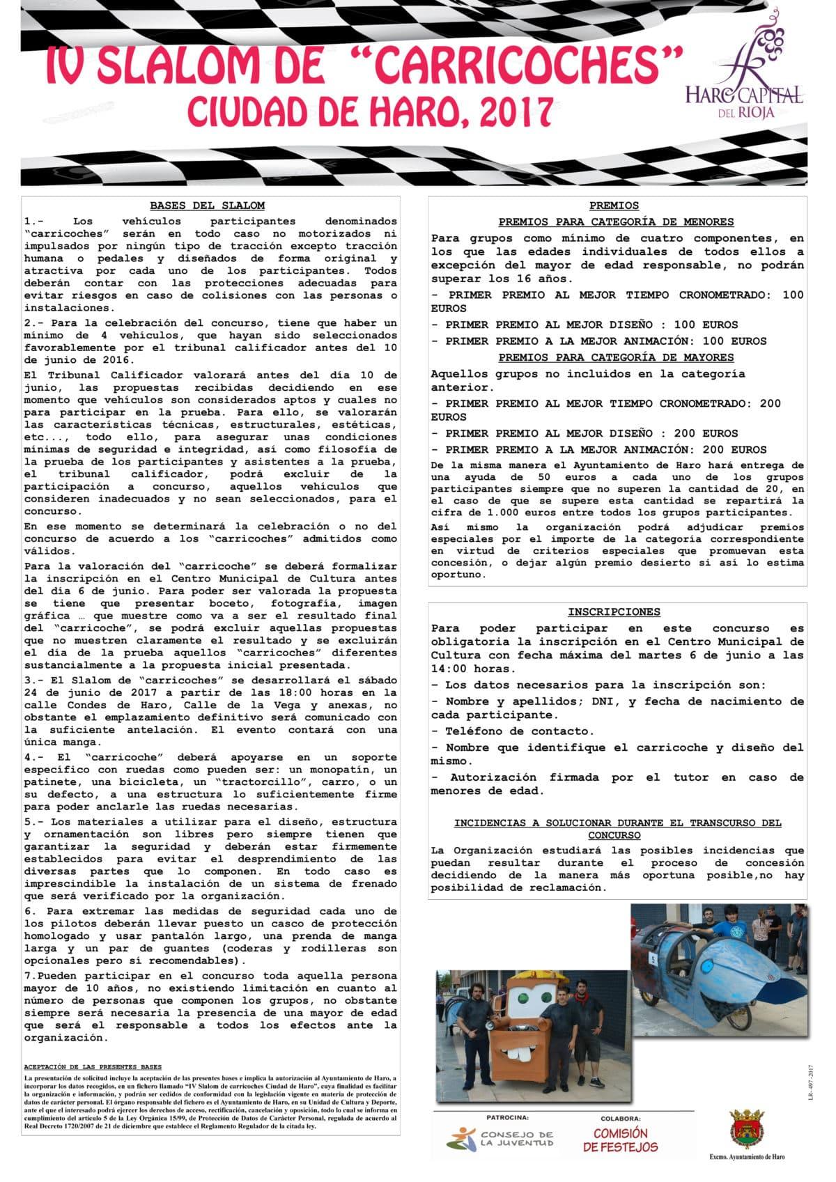 Abiertas las inscripciones para el cuarto Slalom de Carricoches Ciudad de Haro 5