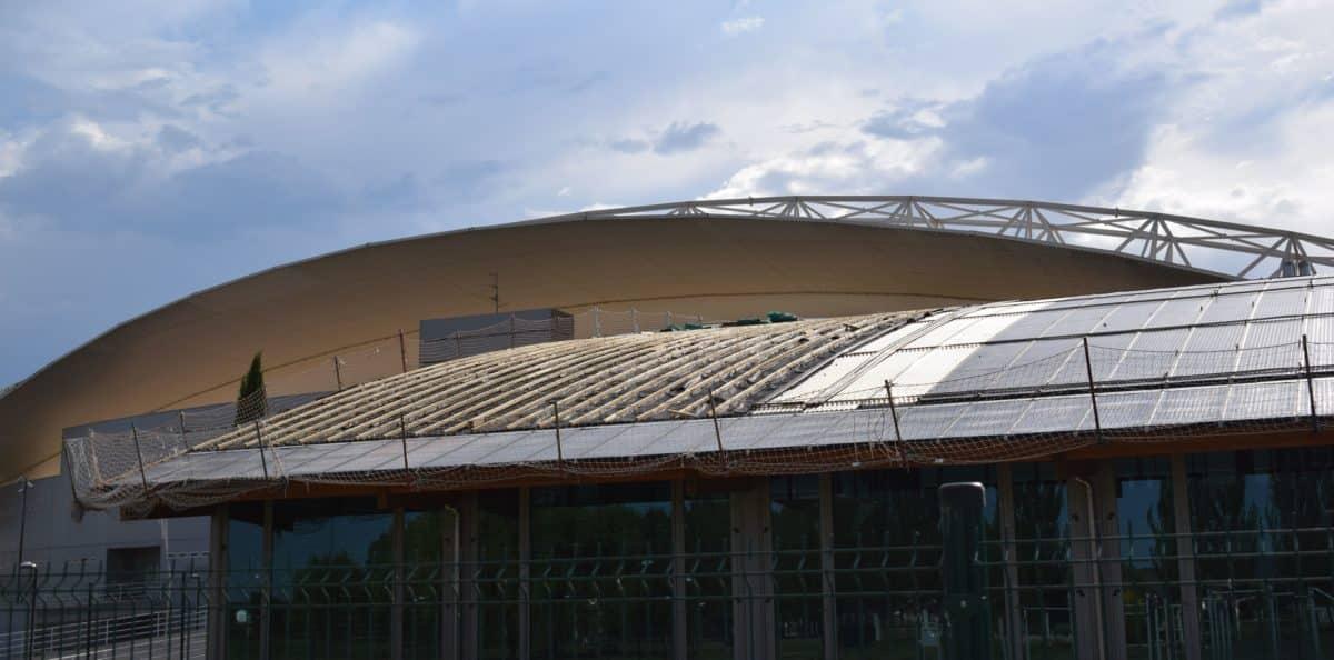 En marcha la construcción de las nuevas pistas cubiertas de pádel de El Mazo 4