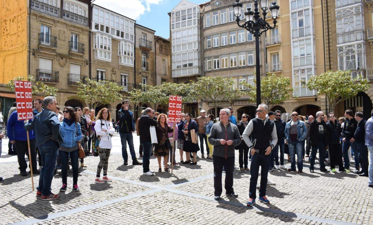 Las imágenes de la concentración en contra de los despidos en Bodegas Bilbaínas 23