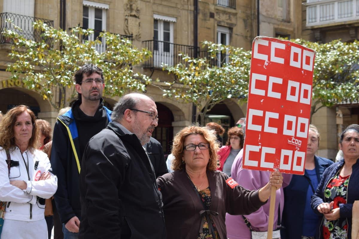 Las imágenes de la concentración en contra de los despidos en Bodegas Bilbaínas 25