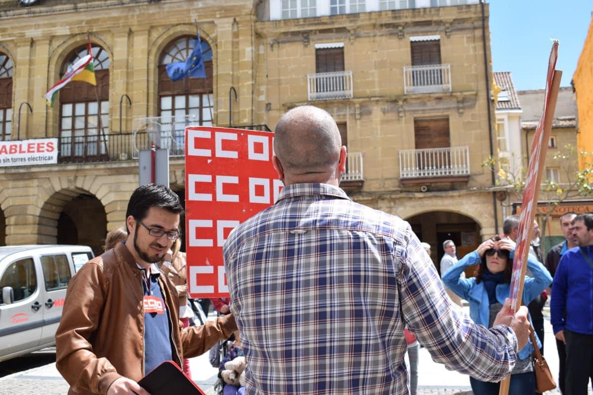Las imágenes de la concentración en contra de los despidos en Bodegas Bilbaínas 26