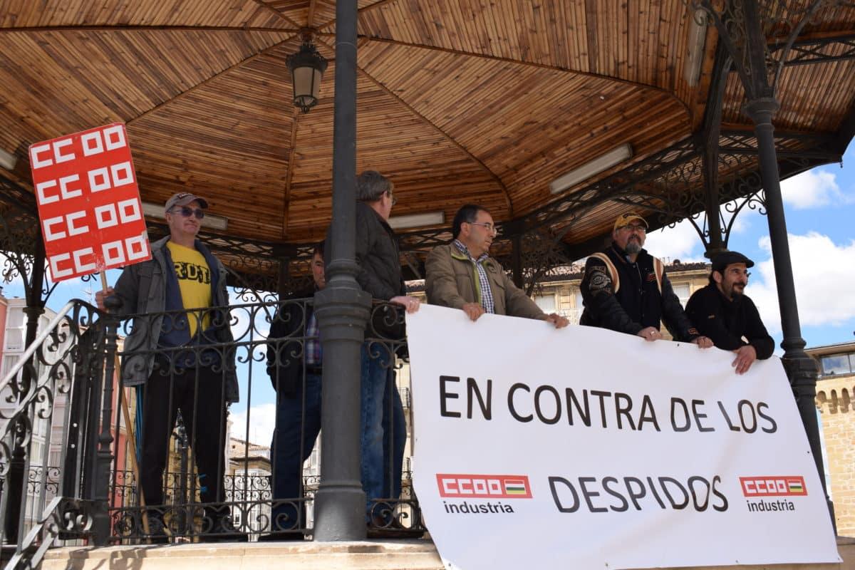 Las imágenes de la concentración en contra de los despidos en Bodegas Bilbaínas 27