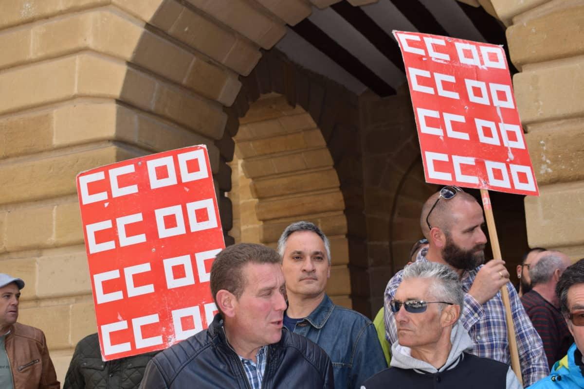 Las imágenes de la concentración en contra de los despidos en Bodegas Bilbaínas 4