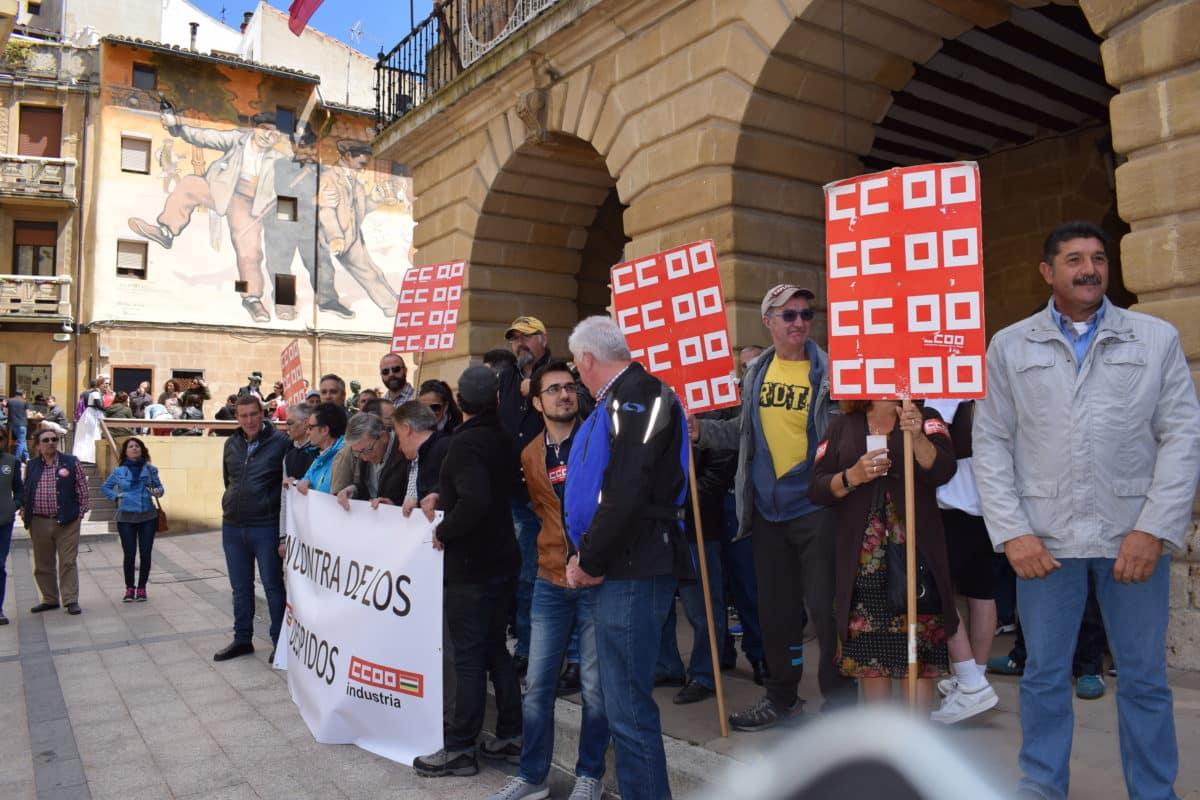 Las imágenes de la concentración en contra de los despidos en Bodegas Bilbaínas 6