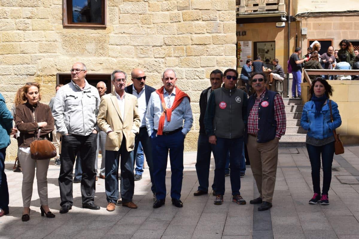 Las imágenes de la concentración en contra de los despidos en Bodegas Bilbaínas 8