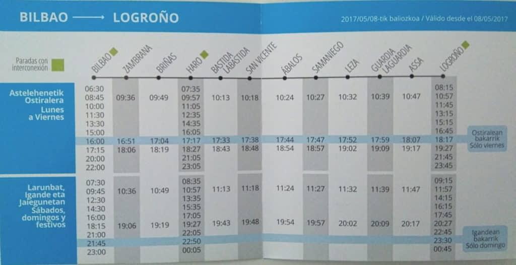 Ya son oficiales los horarios de la línea Bilbao-Logroño de CuadraBus con parada en Haro 2