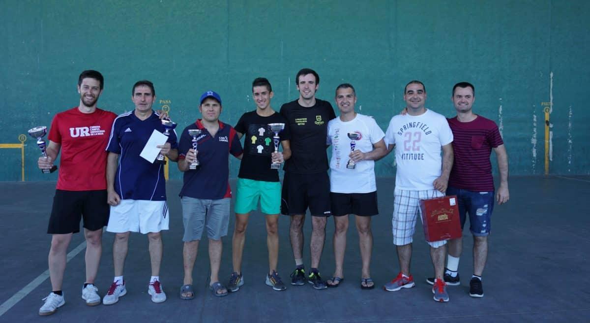 Asier Galarza y Javier Esparza, vencedores del XIX Campeonato de Frontenis Peña Iturri 1