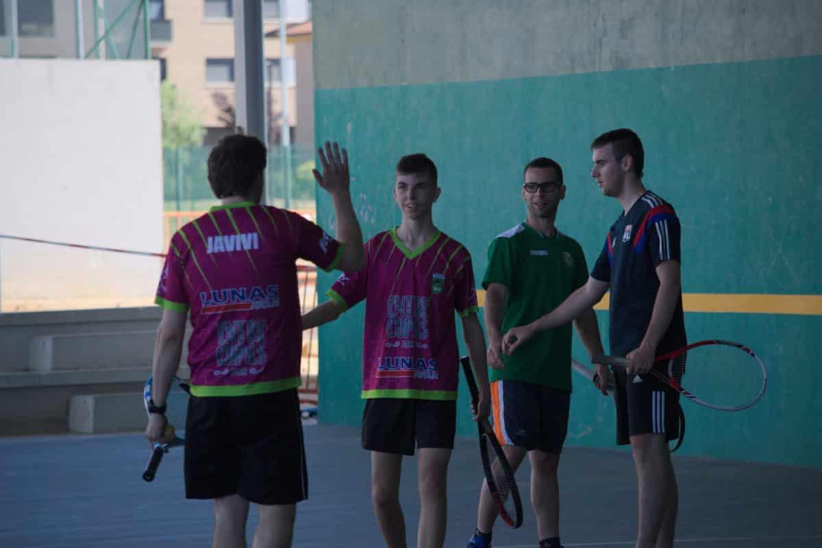 Asier Galarza y Javier Esparza, vencedores del XIX Campeonato de Frontenis Peña Iturri 2