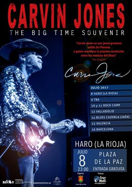 Carvin Jones actuará el próximo 8 de julio en la plaza de la Paz 1