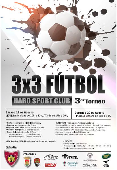 Abierto el plazo de inscripción para el Torneo 3x3 del Haro Sport Club 2