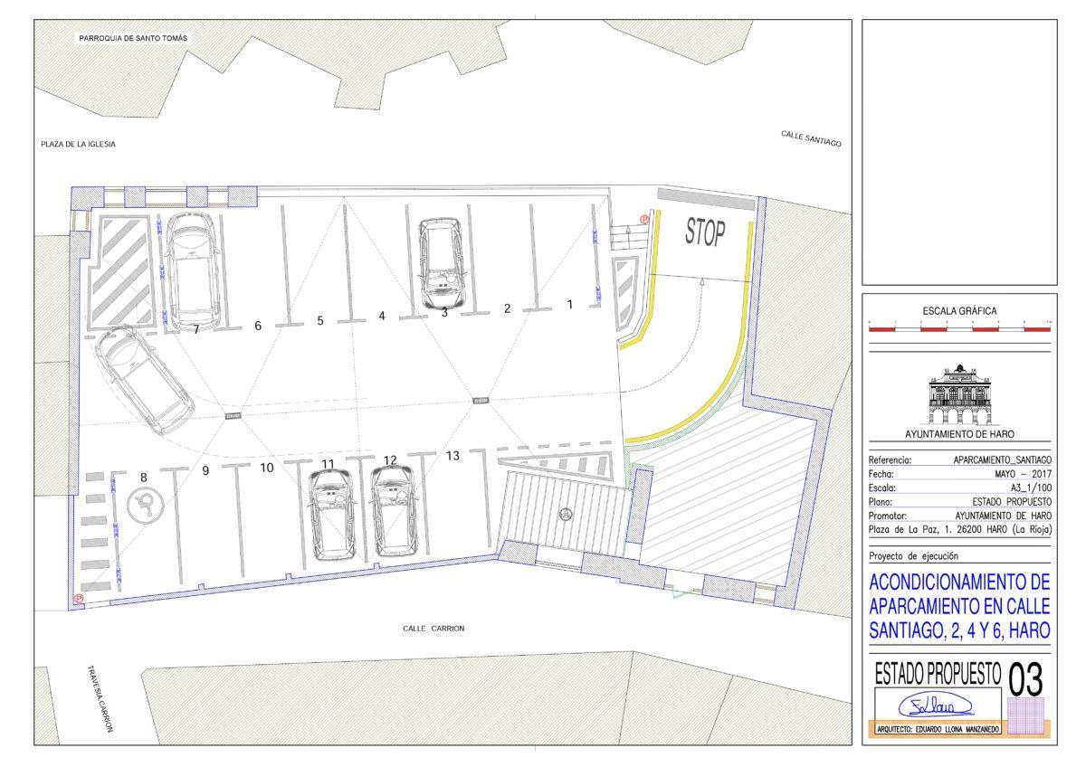 El Ayuntamiento de Haro habilitará un nuevo aparcamiento en la calle Santiago 1