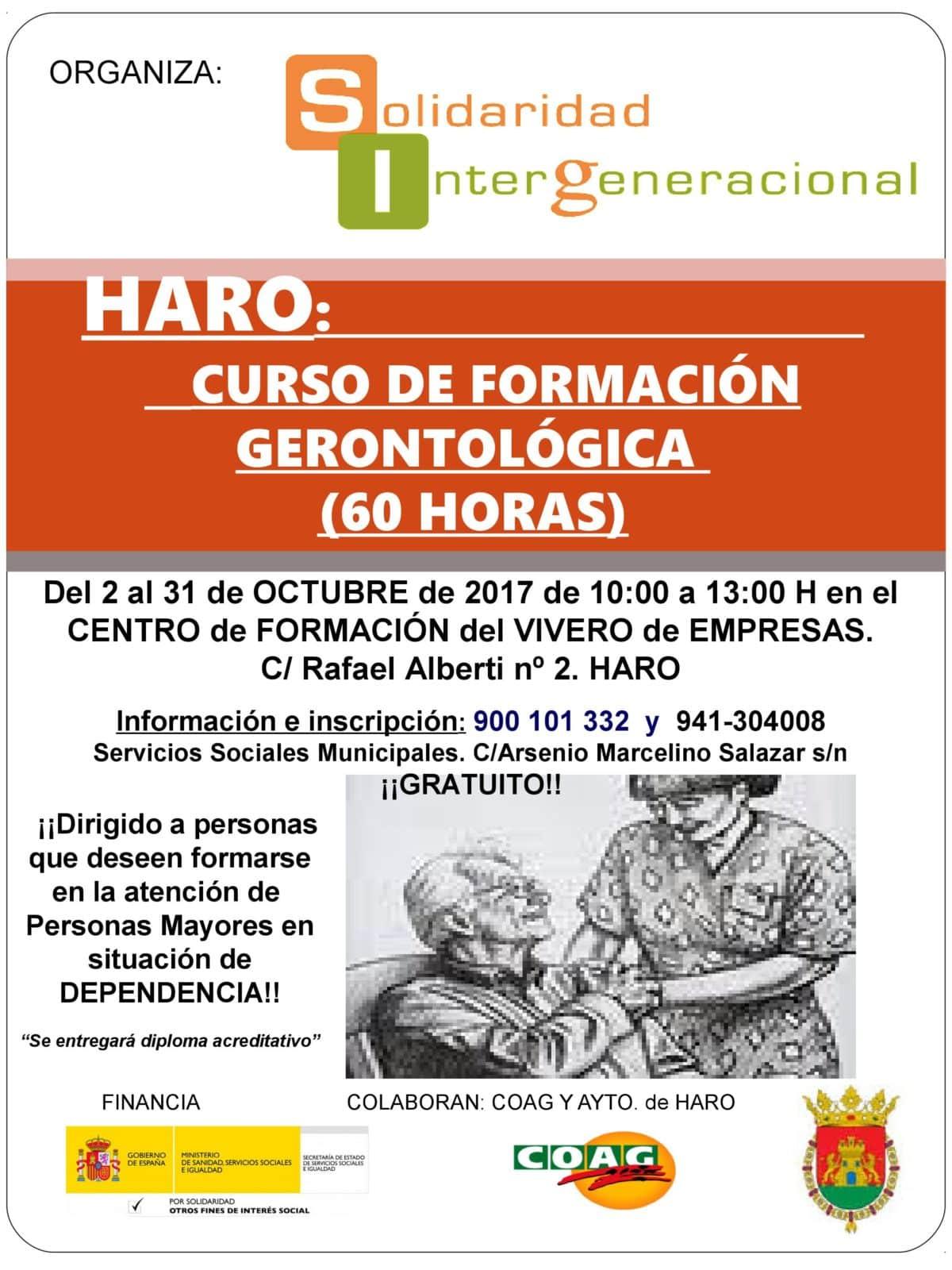 El Vivero de Empresas acogerá en octubre un curso gratuito de gerontología 1
