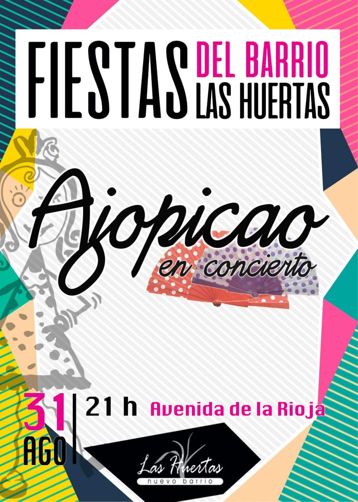 El Barrio de las Huertas inicia este jueves sus fiestas con el concierto de 'Ajopicao' y un pinchopote 1
