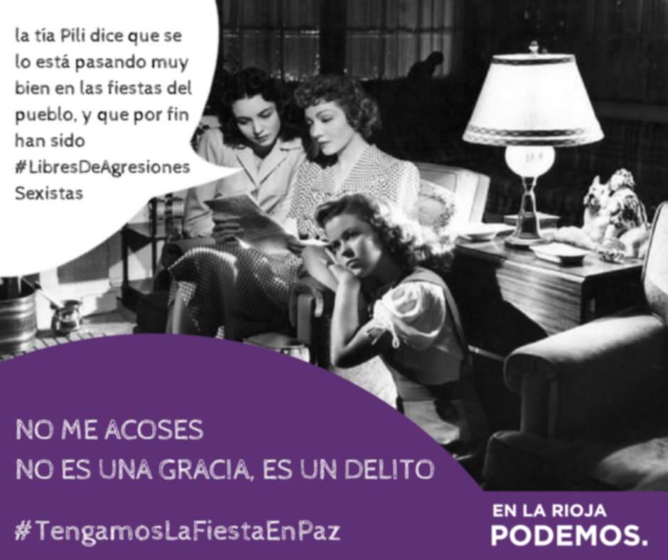 El círculo feminista de Podemos lleva a Nájera su campaña contra el maltrato machista 2