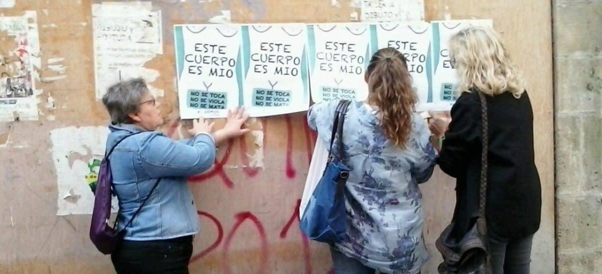 El círculo feminista de Podemos lleva a Nájera su campaña contra el maltrato machista 1
