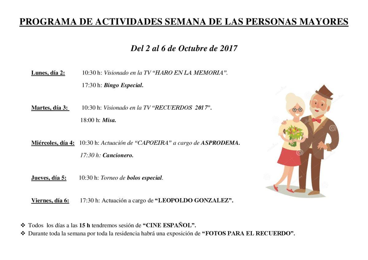 El Hogar Madre de Dios celebra la 'Semana de las Personas Mayores' 2