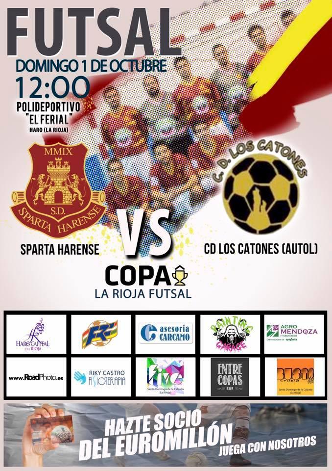 El Sparta Harense se estrena este domingo en la Copa La Rioja Futsal 1