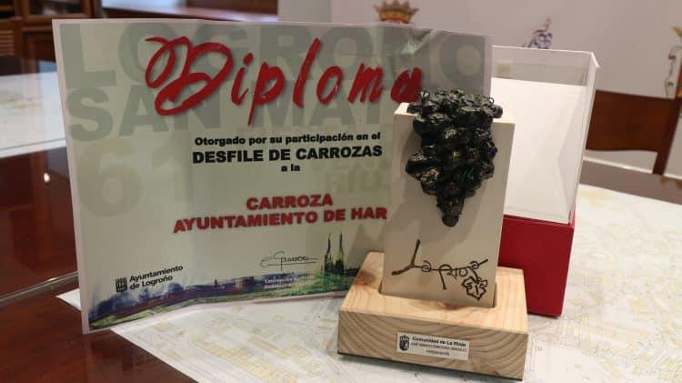 Haro, segundo premio en el concurso de carrozas de las fiestas de San Mateo 1